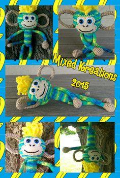Crochet Funky Mohawk Monkey - pattern by ILoveHaHandmade