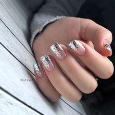 cute nail design ideas for stylish brides 19 ~ Modern House Design Beautiful Nail Designs, Cute Nail Designs, Acrylic Nail Designs, Acrylic Nails, Gelish Nails, Nail Manicure, My Nails, Snow Nails, Glitter Nails