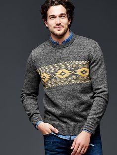 Fair isle stripe sweater Product Image
