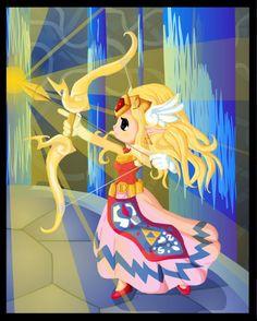 Wind Waker Zelda with Light Arrows