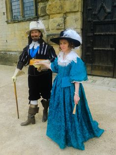 King Charles I and Queen Henrietta Maria take the air at Bolsover Castle