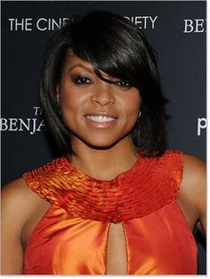 Taraji P Henson- love her and the hair...my hairspiration :) Now, if only I could stop this urge to cut it.