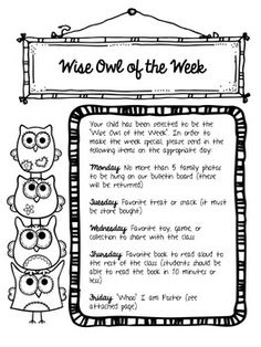 """This twist on a """"student of the week"""" is perfect for an owl-themed classroom."""