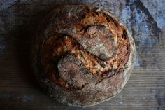Girl Meets Rye : springtide bread : farro bread with green garlic, lucques olives, aleppo pepper & thyme