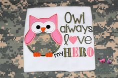 Owl Military Pride Shirt....Army Pride.. how cute, $20.00