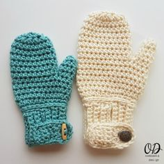Easy-On Mittens - Free Crochet Pattern. Available in Sizes Child, Adult Small, Adult Medium and Adult Large #makeitwithmichaels #redheartyarns #joycreators http://oombawkadesigncrochet.com/2017/01/easy-on-mittens-for-the-family.html