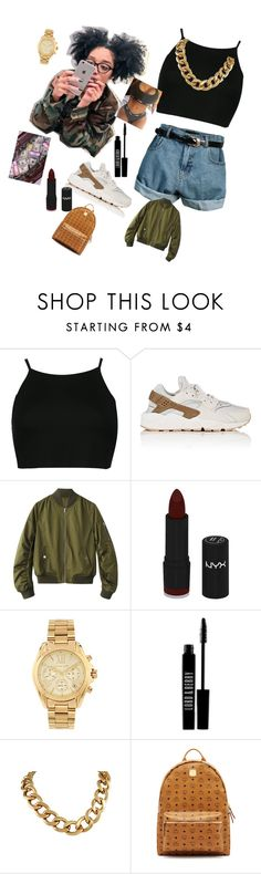 """I feel special 👅💧"" by bigdxddym ❤ liked on Polyvore featuring Retrò, NIKE, NYX, Michael Kors, Lord & Berry and MCM"