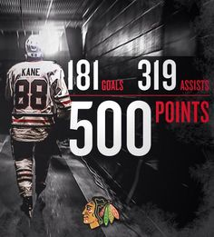 Kane reaches 500 points
