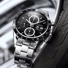 TAG Heuer Carrera Calibre There is something about this classic. Amazing Watches, Cool Watches, Rolex Watches, Carrera Watch, Tag Heuer Carrera Calibre, Watches Photography, Hand Watch, Luxury Watches For Men, Omega