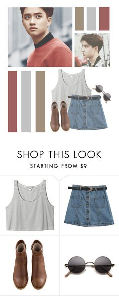 """Do Kyungsoo // Tag"" by lilian95 ❤ liked on Polyvore featuring Monki, Chicnova Fashion, A.P.C., living room, kpop, do, EXO, exok and dokyungsoo"