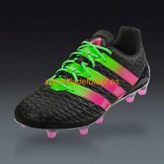 buy online 177df 5c05c Buy adidas ACE FG AG - Black Shock Pink Solar Green Firm Ground Soccer  Cleats on SOCCER. Shop for all your soccer equipment and apparel needs.