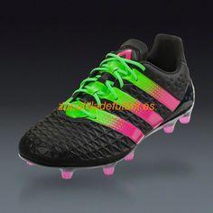 Mejor Tacos de futbol Adidas Ace 16.1 FG/AG Choque Rosa Verde Solar