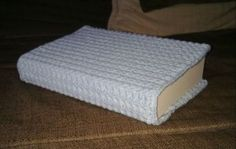 Free crochet book cover pattern. Way cuter than a paper!