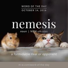 The #wordoftheday is nemesis. #merriamwebster #dictionary #language