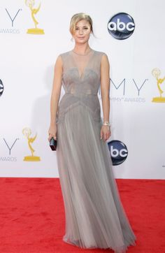 Emmy Awards 2012: Emily VanCamp looked gorgeous in a gray tulle J. Mendel gown.  #Emmys