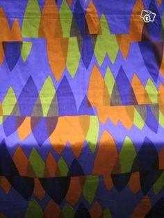 Vintage Finnish fabric design by Marjatta Matsovaara