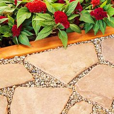 Stepping Stones Use garden stones to create the floor of the room. Set the stones directly on leveled dirt. Use pebbles to fill in the cracks to make an even surface. In damp areas or areas with loose soil, dig a foundation, and fill it with layers of gravel and sand before placing the stone.