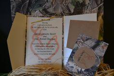 Camo and doe/deer Wedding invitation by ernigirldesigns on Etsy, $40.00