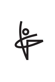 Ballet Logo Concept Designed by Tony Beard / Ballet Dancer Human Form Linear Logo Design Bts Design Graphique, Art Graphique, 2 Logo, Logo Branding, Logo Line, Corporate Design, Logo Inspiration, Logo Monogramme, Icon Design