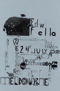 amazing one-of-a-kind graphic design & typography by ed fella Typography Layout, Graphic Design Typography, Graphic Design Illustration, Zine, Typo Poster, Design Museum, Grafik Design, Type Design, Letterpress