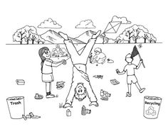 best recycling colouring sheets for kids httpcoloringpagesgreatscience - Recycling Coloring Pages Kids
