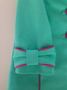 piping bow - turquoise & pink - Manteltje jackie
