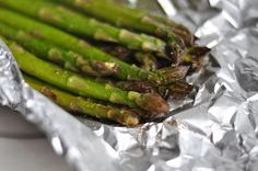 Grilled asparagus!