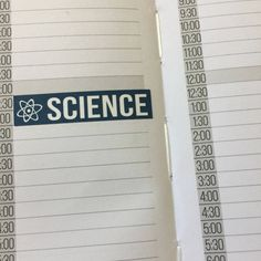 Science Sticker Strips for the weekly layout section in the Compact and Classic sized Passion Planners by LyRainzStickrzNStuff on Etsy
