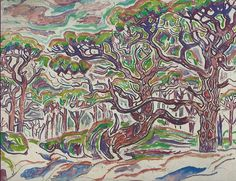 watercolor from the Horn Island Logs of Walter Inglis Anderson, ca. 1960