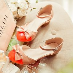 Summer Patent leather Shallow mouth candy color bow round toe fashion flat bottom single shoes Flattie women's low heel sandals-in Women's Flats from Shoes on Aliexpress.com | Alibaba Group