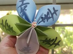 Origami Flower of Happiness Large by GracelinePaperStudio on Etsy, $3.00