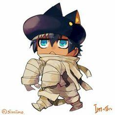 Im-Great Priest Imothep Makoto Morishita's Twitter Chibi, Sumo, Priest, Bowser, Egyptian, Novels, Kawaii, Fan Art, Animation