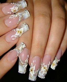 Nail art is one of those fashions women can't get over it anyway. Check out Best Acrylic Nail Art Designs, Ideas ,Trends, Stickers & Wraps 3d Nail Designs, Nail Designs Pictures, Colorful Nail Designs, Acrylic Nail Designs, Colourful Nail, Floral Designs, Nails Design, 3d Nails, Cute Nails