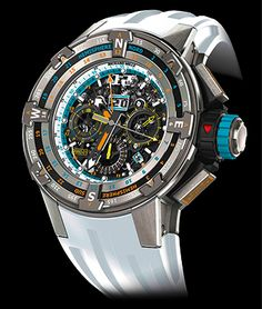 Cellini Jewelers Richard Mille RM 60-01 Voiles de Saint Barth Automatic chronograph annual calendar GMT titanium case