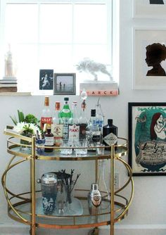 how to style up a sexy mad men inspired bar cart - How To Style A Bar Cart
