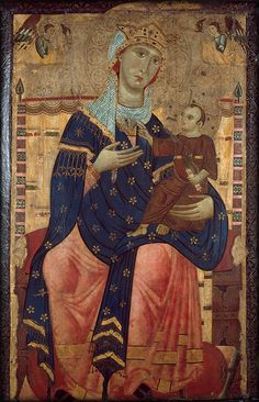 Luccan, c. Enthroned Madonna with Child. Canvas mounted on poplar, 104 x 63 cm. Acquired in 1968 as a loan from the Neven DuMont family, Cologne. Madonna Und Kind, Madonna And Child, Religious Icons, Religious Art, Fine Art Prints, Canvas Prints, Byzantine Art, Museum, Photography Illustration