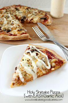 Holy Shiitake Pizza by lovebakesgoodcakes, via Flickr