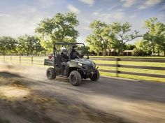 The new Polaris Ranger 800 has a chassis that is smaller than full size Rangers, making it easier to manoeuvre, park and store.