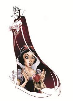 Bem vs Mal – Ilustrações fantásticas unem heroínas da Disney com suas vilãs
