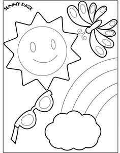 Beach Coloring Pages, Sheets and Pictures! | Summer fun, Beach and ...