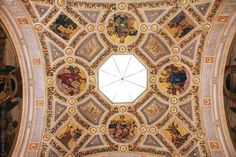 Ceiling of the Rotunda at the Morgan Library in New York City