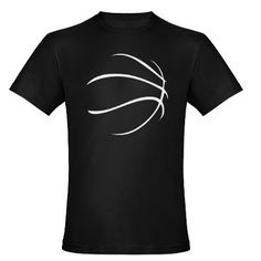 Basketball simple negative space silhouette t-shirt