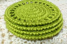Your place to buy and sell all things handmade Cotton Crochet, Coaster Set, Nifty, Happiness, Knitting, Handmade, Stuff To Buy, Hand Made, Bonheur