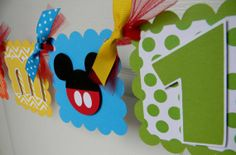 Mickey Mouse Clubhouse Birthday Party High by sweetheartpartyshop