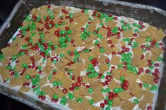 Chocolate Chip Cookies With Red And Green M Amp