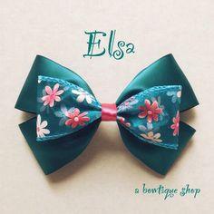 elsa hair bow                                                                                                                                                                                 Mais