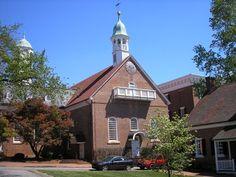 Home Moravian Church circa 1800---Old Salem, Winston-Salem, NC