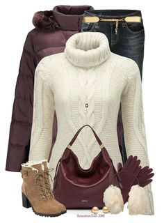 """""""Staying Warm in a Puffy Coat"""" by houston555-396 ❤ liked on Polyvore featuring Four Seasons, R13, Superdry, Henri Bendel, Furla, Ivanka Trump, Yves Saint Laurent, Uniqlo and Diane Von Furstenberg"""