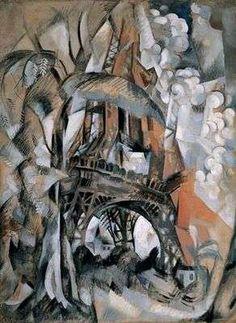 La Tour Eiffel aux arbres, par Robert Delaunay