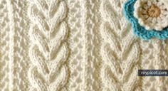 MyPicot | Knitting Cable Lace Stitch | Free crochet patterns